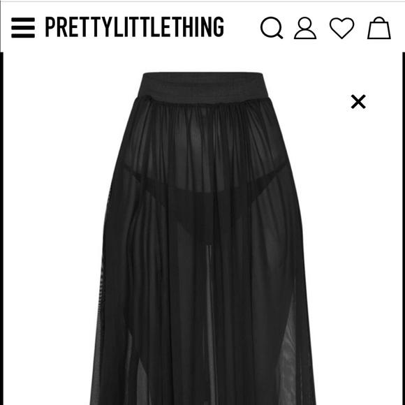 0599ae6be6 PrettyLittleThing Skirts | Nwt Pretty Little Thing Mesh Skirt | Poshmark